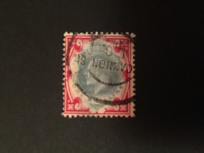 GB used stamps KE7 1s red & green good used