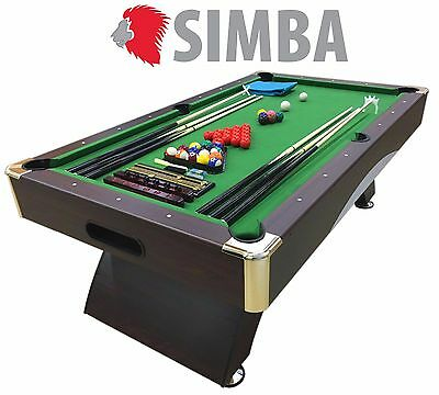8 Ft Pool Table Billiard Playing Cloth Indoor billiards table new - LEONIDA