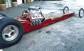 "Nostalgic 170"" 1968 Top Fuel Dragster Including Mr. Ed Trailer"