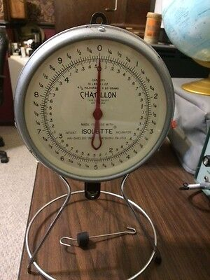 Vintage Chatillon Isolette Baby Scale