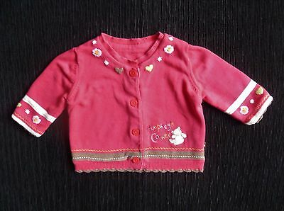 Baby clothes GIRL 3-6m Mothercare dark pink lined cardigan 2nd item post-free!