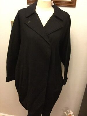 Motherhood Maternity Black Pea Coat Winter Womens Size 6 NWT