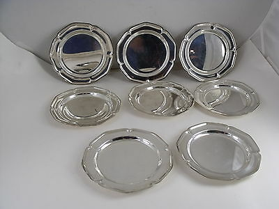 Set Of 8 Wa Rogers Silver Plate Bread Butter Plates