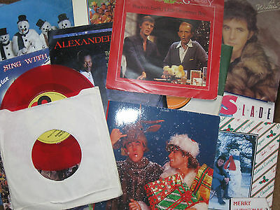 "Job Lot  20 Christmas 7"" Singles . Records In Near Mint Condition"