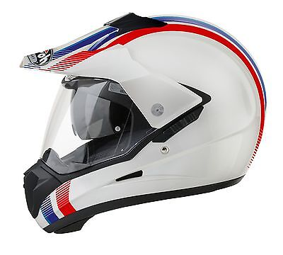 Airoh S5 Red/white/blue Road/off-Road Helmet Gold Stamped Approved Africa Twin