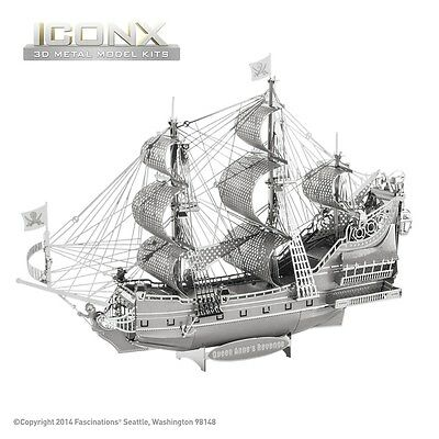 Fascinations Metal Earth Ship Queen Anne's Revenge ICONX Laser Cut 3D Model