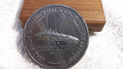 Rear Souvenir Lead Medallion Salvaged from HM Submarine No1 (Holland 1)