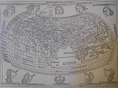 1482 Antique Map Of The World - Ptolemy Geographia - Reproduction