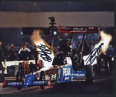 TJ Zizzo Tony Peak Top Fuel Dragster autographed 8x10 photo