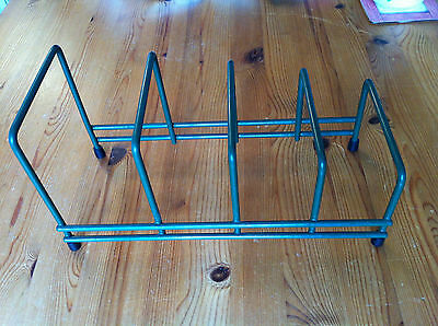 Green Plastic Coated Steel Wire Plate Rack/Stand/Tidy