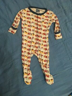 Kickee Pants Baby Boy Footed Sleeper  Size 0-3 Months Cute