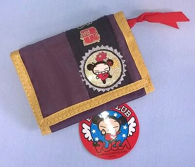 Pucca Wallet Purse + Free Bracelet New Velcro Coin Ladies Girls Cute Gift