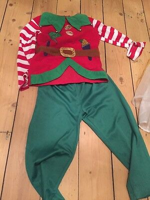 Elf Christmas Outfit 4-5 Mothercare Dress Up Christmas Party