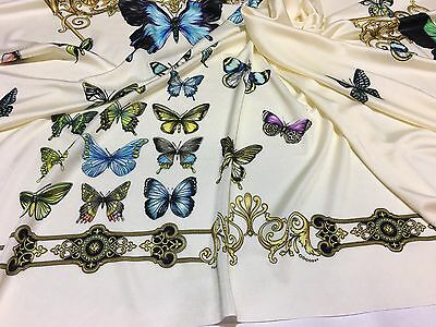 VERSACE 100% Viscose Jersey fabric for shirt,dress... made in Italy 98 x 136 cm
