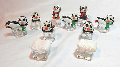 Set of 10 Christmas Light String Covers - Penguins on Blocks of Ice