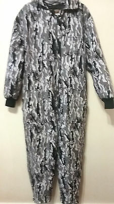 X Caliber Sportsman's Snow Camo Hunting Coveralls Pants Overall Mens M Insulated
