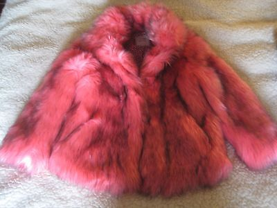 Next girls faux fur coat, size 9-10 years, color-pink