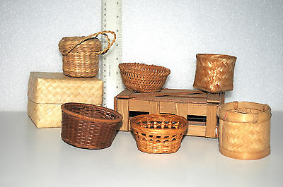 Collection of Vintage Small Woven Baskets