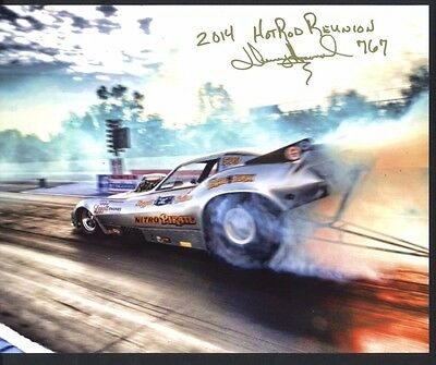 Devery Howard Nitro Pirate Nostalgia Nitro Funny Car autographed 8x10 photo