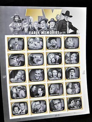USPS .44 TV Early Memories - 20 Different Stamps! - Stamp Sheet of 20 - Mint