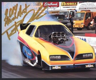 Robert Overholser California Hustler Nostalgia Funny Car autographed 8x10 photo