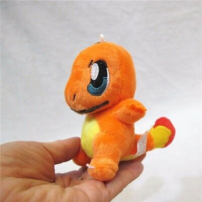 Anime Pomeon Charmander Plush Pocket Monster Stuffed Soft Doll Toy Keychain