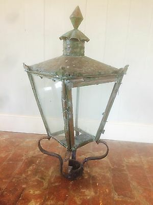Victorian Copper Street Lamp Lantern Industrial Architectural Salvage *DELIVERY*