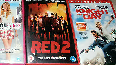 JOB LOT DVDs X 8 SCHOOL ROCK, RAMBO,RED 2. MATERIAL GIRLS AND MORE.
