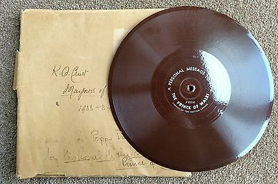 c.1930's Flexidisc Record of The Prince of Wales Supporting The British Legion