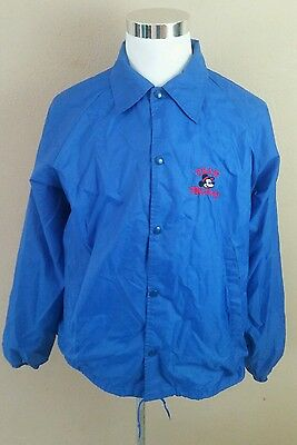 RARE Team Mickey Button Up Jacket sz Large Disney Mouse
