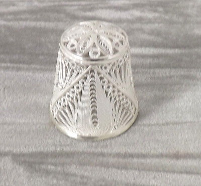 Silver Filigree  Thimble  Marked  .925 Inside - New Old Stock