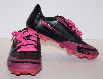 710e3d3ad BRAVA BLACK   Pink Girl s Youth Soccer Cleats Size 2 FREE Shipping ...