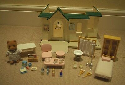 Sylvanian Families Cottage Hospital with figure and accessories