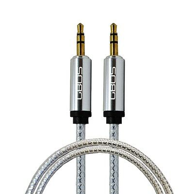 1M 3.5mm Genuine GBOS® Jack to Jack AUX CABLE For iPhone iPod PC Car MP3 Tablets
