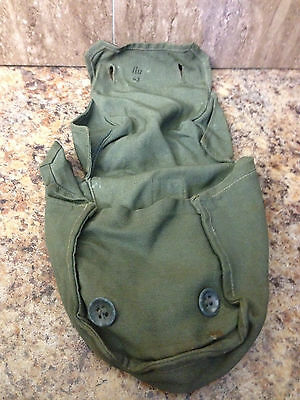 GERMAN ARMY WWII WW2 original spare gas mask filter carrying pouch.