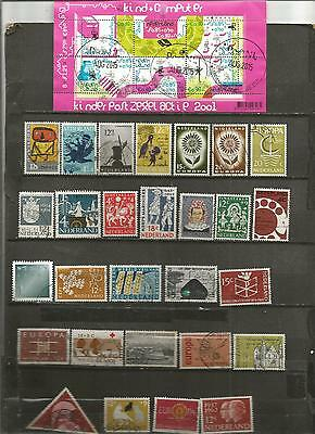 28 timbres pays bas obliteres + 1 feuillet lot 22052016 pay777