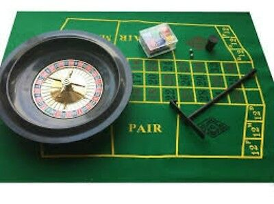 """16"""" Roulette Boxed Full Party Set - Include 1x Rake Wheel, 60 Chips-2 DECK CARDS"""