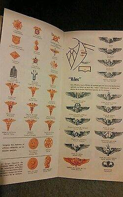 Copy of WW2 Full Color Leaflet by US War info.Office to French to identify ranks
