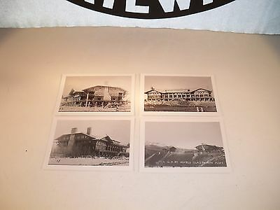 RARE FIND!! Early 1900's Set of 4 GNRY Hotels in GNP Black & White Photographs