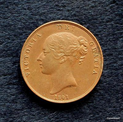 Good Quality 1841 Queen Victoria Young Head Penny
