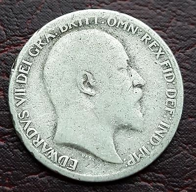 (R16) Uk British 1903 Edward Vii Silver 'lucky' Sixpence Coin