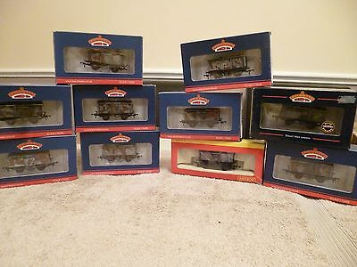 Bachmann 00 gauge weathered coal wagons x9 plus 1 Hornby coal wagon