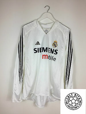 REAL MADRID #3 (R.Carlos) 04/05 *MATCH WORN* Home Football Shirt (XL) Jersey