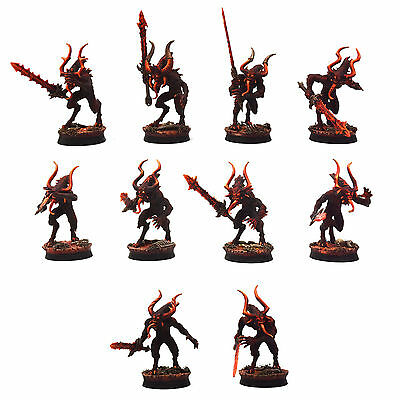 DAEMONS OF KHORNE 10 Chaos Bloodletters #1 PRO PAINTED Warhammer 40K