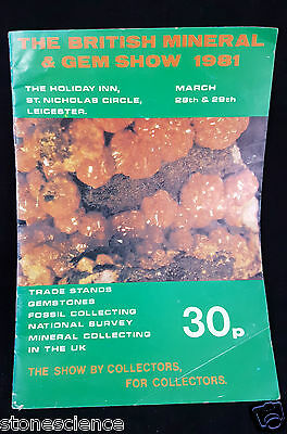 British Mineral & Gem Show 1981 rare Mineral Memorabilia 16 pages Interesting