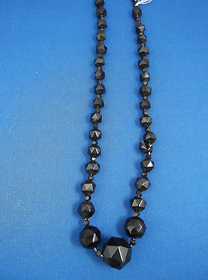 Whitby Jet Necklace Antique Victorian Mourning Jewellery