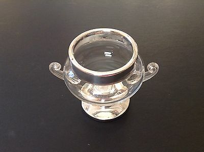 Vintage Silver Topped Glass Flower Posy Vase