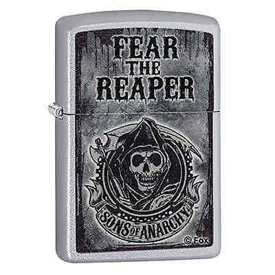 Zippo Sons of Anarchy Fear the Reaper Windproof Pocket Lighter - Satin Chrome