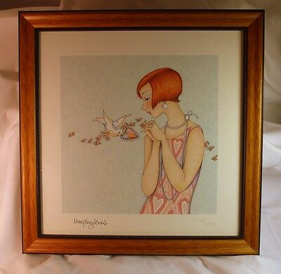 Mary Engelbreit Flapper Lithograph Framed