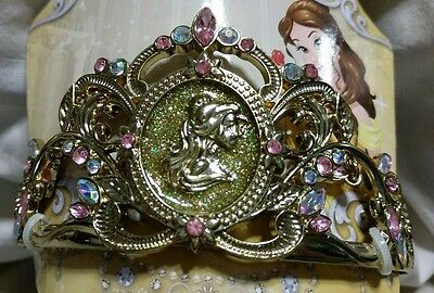 Authentic Disney Store Princess Beauty & Beast Belle Tiara Metal Headband Crown